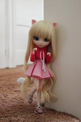 Cute kitty (JustAPullipFan) Tags: pullip blond blue eyes neko romantic alice pink cute cat