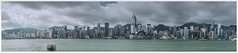 VICTORIA HARBOUR PANORAMA (worldwotcha) Tags: seaview hongkong island waterfront waterside harbourside quay victoriaharbour vista panorama scenery boat architecture skyline skyscrapers
