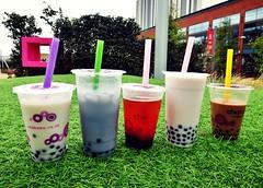 Tea Group! (pandorahoshii) Tags: bubble tea milk fruit drink