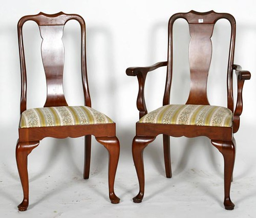 Set of 10 Stickley Queen Ann Dining Room Chairs ($1,232.00)