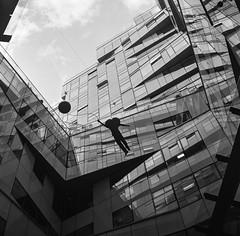 Hanging On (Rob Hall (SquarePhotography.co.uk)) Tags: robhall trilbyspats robinhall squarephotography squarephotographycouk birmingham birminghamuk uk england cube monochome mediumformat 6x6 film