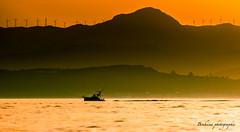 Sunset in Ttouan. (Bouhsina Photography) Tags: sunset coucher soleil montagne ciel mer eau silhouette bouhsina ttouan maroc morocco bouhsinaphotogrphy bateau peche hlices vent palmes couches couleur wow