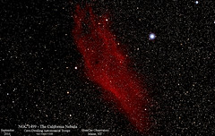 NGC1499_CaliforniaNebula_Sept2016_HomCavObservatory (homcavobservatory) Tags: california nebula astronomy astrophotography emission homcav observatory refractor canon