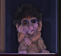 Hidden Troll Found! (OrlandParkBirdieGirl) Tags: old troll hidden dusty closet shelf hayward wisconsin usa flicker lounge lost found saturday week 44 family souvenier resurrected