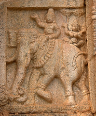 Man riding Elephant (VinayakH) Tags: bhoganandeeshwaratemple karnataka india temple nandihills chikkaballapura chola ganga hoysala tipusultan religious historic