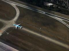 Overhead SeaTac (C McCann) Tags: runway airport sea ksea seattle seatac kal korean 777 airliner airline airplane dash8 q400 horizon windowseat