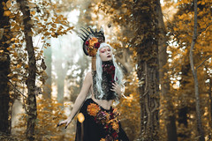 Regina Sinopide (Pauline L photographe) Tags: darkbeauty darkfairytale darkwood queen queenofautumn flowers girls woods forest countryside color yellow ocre fineart fineartphotographer fineartphotography fantasy fairytale fairydream fantastique fairy flower france canonfrance canon5dmarkii