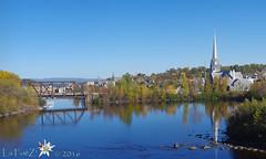 Rivire Chicoutimi - Reservoir  barrage Chicoutimi - reflets (La FoeZ') Tags: pentaxk30 barrage barragechicoutimi automne autumn couleursdautomne octobre october 2016 lafoz rservoir