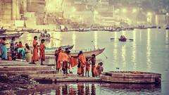 Morning by the Ganga river (Pawel A K) Tags: theworldthroughourlenses 2013 india asia varanasi ganga morning hindu river water ganges