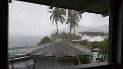 View out our balcony during one of the daily (or twice/thrice daily) rain storms