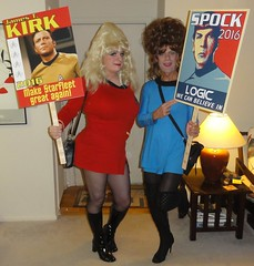 Star Trek Drag Queens! (rgaines) Tags: costume cosplay crossplay drag startrek tos dragqueens halloween highheelrace kirk spock funny humor election yeomanjanicerand