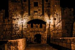 Medieval Gate (rodiann) Tags: rhodes rodi rhodos greece grecia knights bridge wall walking lamps lights outdoor night