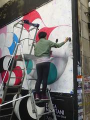 Erica Mizutani : cration en cours (15 octobre 2016) (Archi & Philou) Tags: erikamizutani mizutani brsil streetart murpeint paintedwall performance crationencours paris11 murxi workinprogress wip