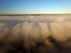 Drone above the low fog (ABDKHemings) Tags: drone dji fog