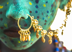 Nose Ring (Boodesh Ganeshkumar) Tags: india nose ring lips color green ears gold steet people traditional tradition
