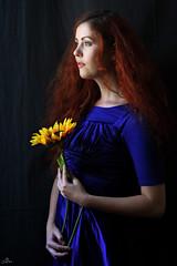 Caitlin window light (sengsta) Tags: advancephotographytechniques portrait venturephotographyworkshops workshop model flower bluedress