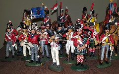On Manouvres between Sideboards...Stopping For A Photoshoot (standhisround) Tags: napoleonicwar soldiers models metal pewter modelsoldiers infantry