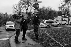 Murder on my street: the story told by the police (1/3) (Papaye_verte) Tags: murder police drame ledessoeurs meurtre streetphotography drama canada montral qubec journalist journaliste