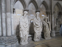 Rouen Cathedral - statues of prophets (bronxbob) Tags: rouen normandy france rouencathedral cathédraleprimatialenotredamedelassomptionderouen statues saints prophets cathedrals churches