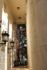 316/365 Portico (AluminumDryad) Tags: photoaday dailypicture project365 photochallenge columns porch architecture library marble