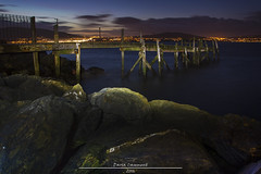 Holywood Pier (dareangel_2000) Tags: dariacasement holywoodpier holywood codown northernireland paintingwithlight twilight landscape nightphotography seascape rocks sea sunset sundown texture longexposure dirtyduck belfastlough northdown dusk