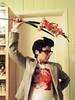 MIZ 2436 (RANCHO COCOA) Tags: morrissey moz thesmiths missykulik halloween costume cosplay kitchen ranchococoa athens georgia gladioli flowers hearingaid
