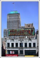 Broad & Market Tavern & National Newark Building (2004) (Ebanator) Tags: downtownnewark newarknj newark nikoncoolpix995 newjersey newarknewjersey broadmarkettavern antiquesigns national building nationalnewarkbuilding skyscraper