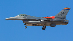 """General Dynamics F-16C Fighting Falcon of the 152 FS """"Tigers"""" from the Tucson Air National Guard Base (Norman Graf) Tags: tigers 152fs 152dfightersquadron 162fw 162dfighterwing 900716 ang az azang airnationalguard aircraft airplane airport arizonaairnationalguard f16 f16c fighter fightingfalcon generaldynamics jet ktus plane tus tucsonangbase tucsoninternationalairport usaf unitedstatesairforce viper"""