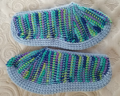Tunisian Slippers v2.5 - side (tephralynn) Tags: crochet tunisiancrochet tunisian slippers