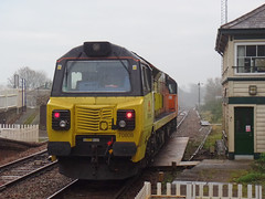 70808 Liskeard (3) (Marky7890) Tags: colasrail class70 70808 6c36 liskeard cornwall train railway