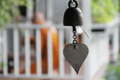 ~~ chiming heart (digitalmao) Tags: monk temple meditate wind bell heart explore chime