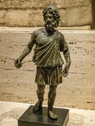Statuette of Hephaestus the god of fire and patron of jewelers, armorers and blacksmiths Roman copy of a Greek original 1st - 2nd century CE Bronze