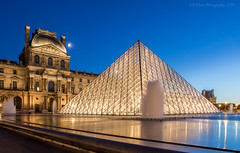 Early Blue Hour at The Louvre (elliott845) Tags: paris europe louvre thebluehour blue hour bluehour lelouvre pyramid louvrepyramid pyramidedulouvre dusk evening lowlightphotography