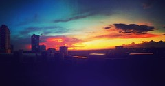 #Sunset as viewed from the office in #panoramic (hijo_de_ponggol) Tags: sunset viewed from office panoramic