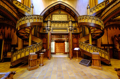 Chapel of the Sacred Heart in Montreal, Canada (` Toshio ') Tags: toshio chapelofthesacredheart chapelledusacrcur chapel montreal canada notredamebasilical notredame church religion architecture stairs wooden fujixe2 xe2