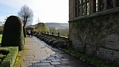 Haddon Hall, Bakewell, Derbyshire (Blue sky and countryside) Tags: haddon hall medieval manor house gardens bakewell derbyshire peak district national park england pentax