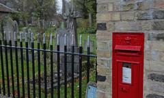 Corner Box @ Harston (Adam Swaine) Tags: churchyard postbox village villages villagechurch cambs cambsvillages swaine canon uk ukcounties ukvillages gravestones englishvillages