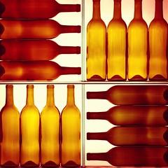 Wrong Way Up (Thomas Hawk) Tags: california pressclub usa unitedstates unitedstatesofamerica bottle green restaurant wine winebar winebottle fav10 fav25 fav50