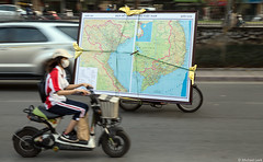 'Google Maps' - Hanoi, Vietnam! (Michael Leek Photography) Tags: map hanoi southeastasia michaelleek michaelleekphotography street streetphotography vietnam transport travel travel2016 vietnamese culture motorcycles motionblur motorbike electricbike city citycentre motorcycle motion movement