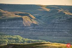 On the edge 2 (Kasia Sokulska (KasiaBasic)) Tags: canada alberta badlands drumheller summer landscape fujix rock formations