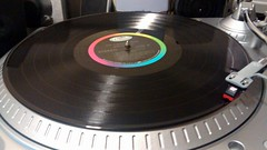 Record On A Turntable. (dccradio) Tags: lumberton nc northcarolina robesoncounty turntable ion ttusb usbturntable record glencampbell christmasmusic oldways recordplayer vinyl round circle lp longplay 3313 tonearm stylus music motorolamotogphoto cellphonepicture motog motorola