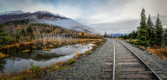 Winter is around the corner (Traylor Photography) Tags: alaska autumn sunrise bogg anchorage reflection rightofway clouds distant sewardhighway fall birdpoint railroad unitedstates us