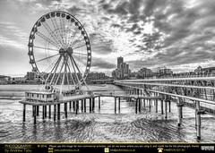 Den Haag, De Pier and D' Ferris Wheel B&W (andrewtijou) Tags: andrewtijou nikond7200 europe netherlands southholland dutch denhaag thehague pier thepier depier ferriswheel