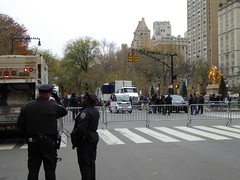 Parade Day Ghost Streets New York November 2016 (1147) (Richie Wisbey) Tags: ghost streets new york quiet closed off crosstown traffic macys polie policing sand trucks cops nypd guns protect serve felt safe best force earth excellent logistical nightmare empty scenes richard wisbey flickr usa exploring explored