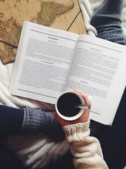 (clarapuigmarti) Tags: feet mug cup winter girl woman legs pajamas pjs sweet cute photography awesome amazing beautiful pretty hype hipster wanderlust vintage worldmap world map folder laptop december weather cold warm hot fuzzy socks studying study coffee