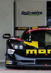 British GT 2009 - MOMO Mosler (PhotoBuzzard) Tags: britishgt bgt silverstone racing motorracing motorsport car sportscar gt3 momo mosler mt900r rollcentreracing madigitalmedia pitlane garage stuarthall danielbrown mediaday 2009