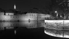 Strasbourg strutting its stuff by night (lunaryuna) Tags: france lalsace strasbourg urban urbanconstructs urbanphotography architecture nightlights night nightphotography nocturnalphotography illumination canal reflections seeingdouble walkinthecity lunaryuna