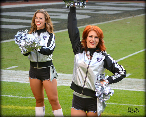 2016 Oakland Raiderette Catherine & Wendy