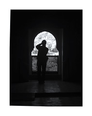 The making of silhouette (oiZox) Tags: silhouette alhambra granada andalucia spain zox zoximage orlandoimperatore ombreeluci observing making photo arquitecture arquitectura white window europe town travelling turistica urban urbano imperatore people photography nikon negro november light lux licht life luz lines gente fotourbana d750 depthoffield dof streetphotagraphy street shadow arches arcos calle city citta callejera viejo blackwhite blanconegro bw black monochrome monocromatico mono