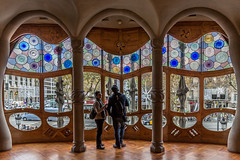 Casa Batllo Windows (Glenn Shoemake) Tags: canonef1635f28lii casabatllo gaudi barcelona